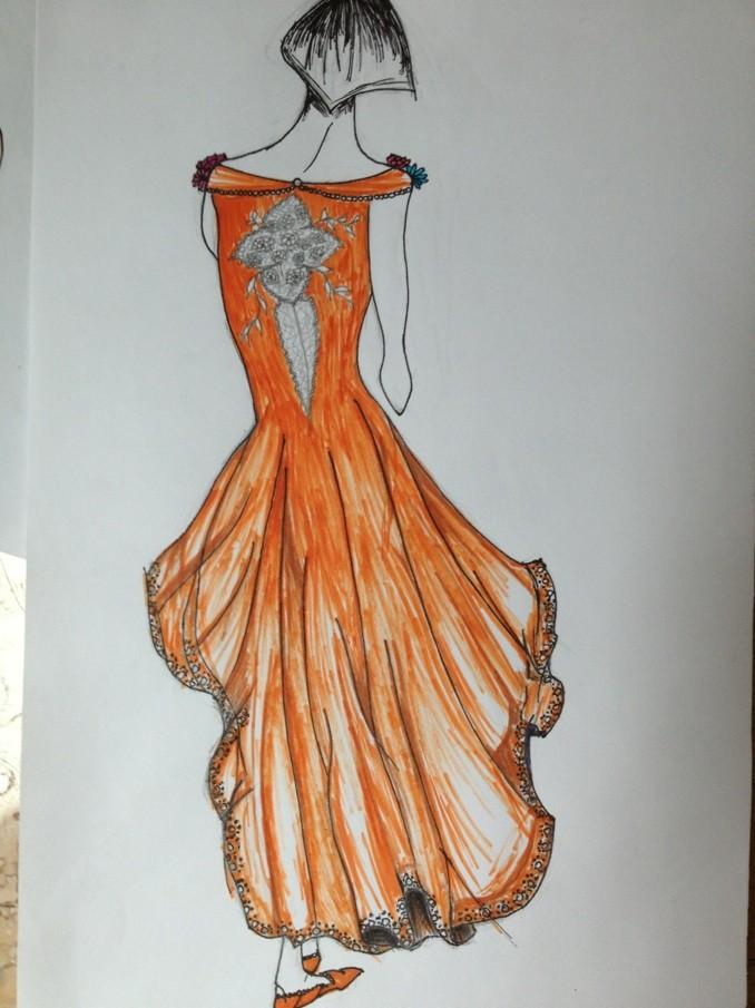 礼服手绘图