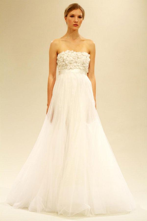 婚纱礼服的腰线设计