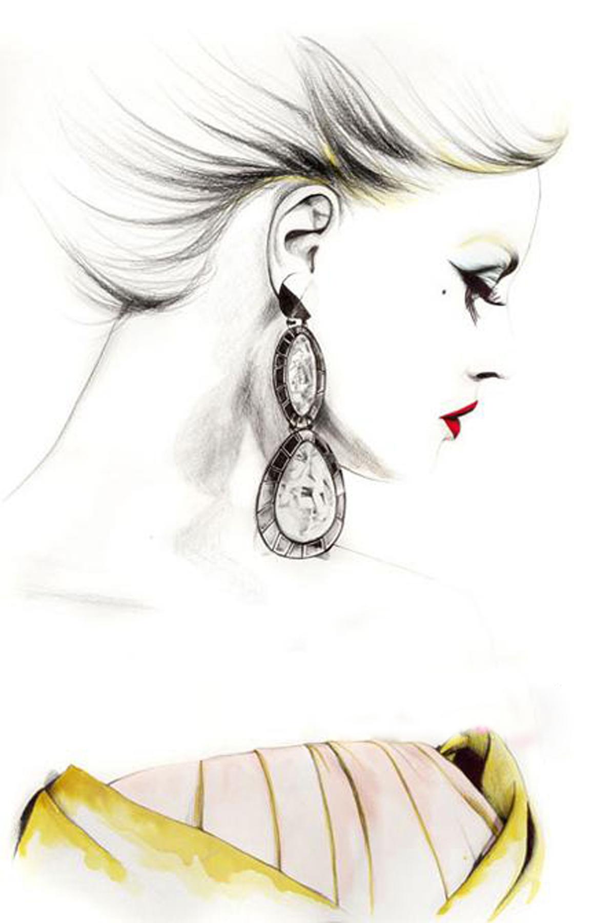 在绘制婚纱礼服手稿时,设计师可选择的材料和工具十分繁多.
