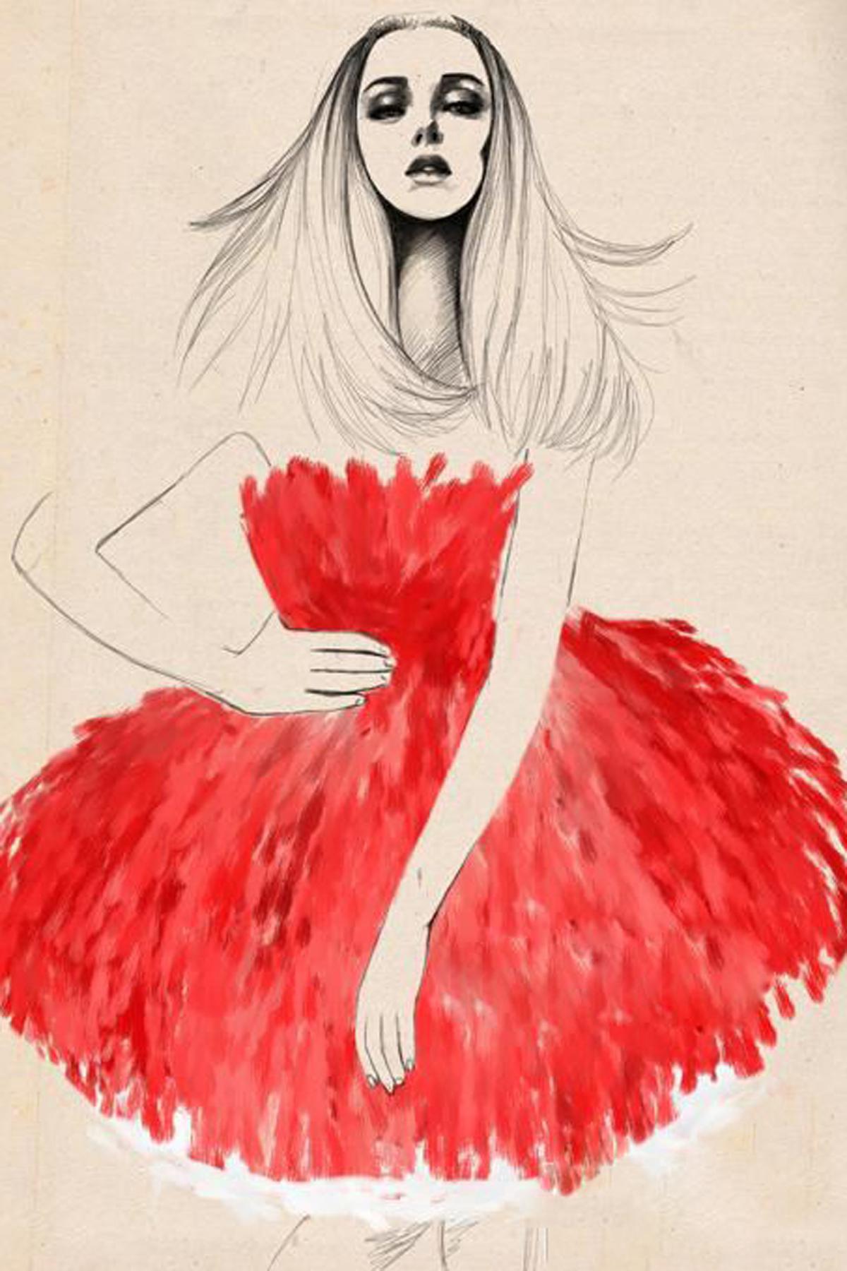 婚纱礼服手稿欣赏 广州莎丽优丽婚纱礼服高级设计定制