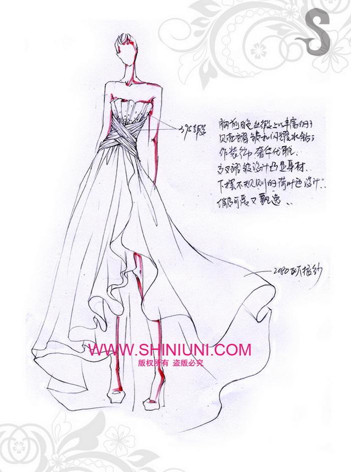 俏皮可爱不规则抹胸婚纱_梦幻_婚纱礼服_shiniuni莎丽