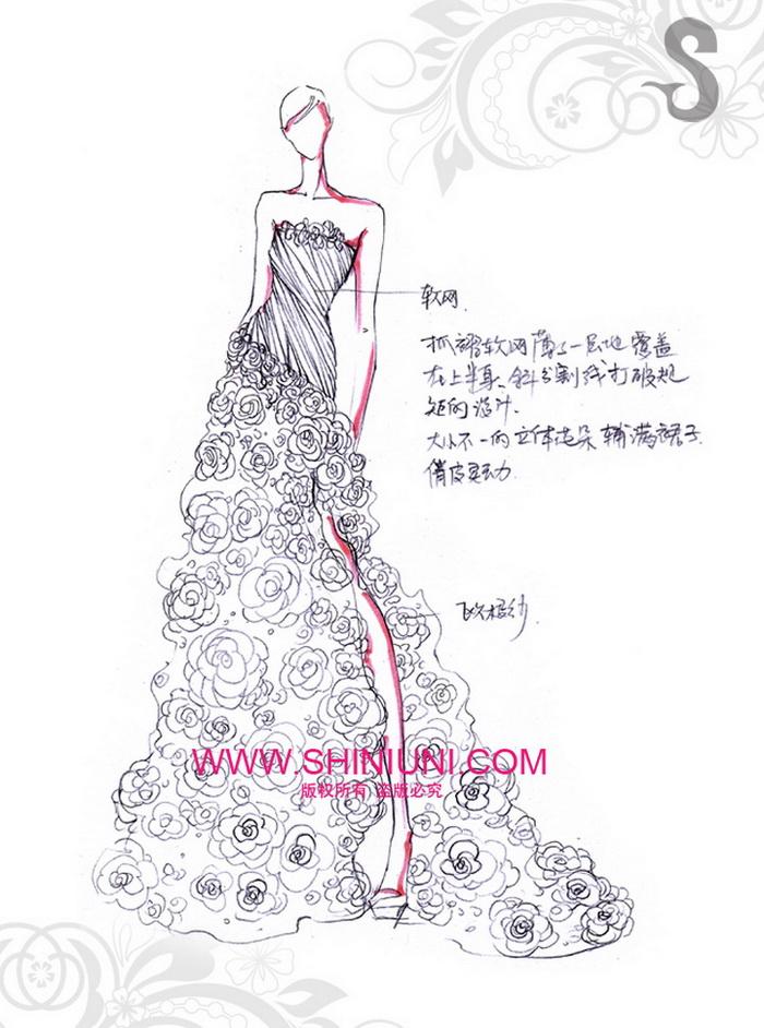 与设计师一起免费设计自己的婚纱 - shiniuni婚纱礼服