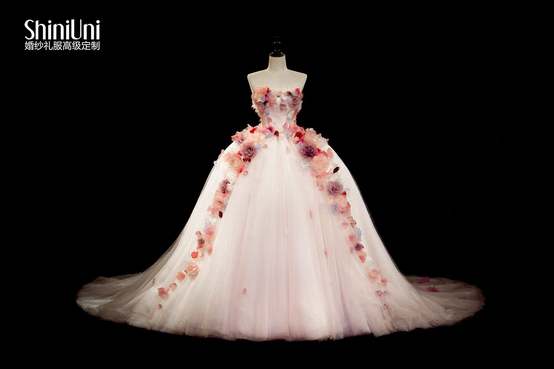 手绘婚纱设计图花瓣网